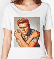 Billy Fury, Music Legend. Digital Art by Mary Bassett Women's Relaxed Fit T-Shirt