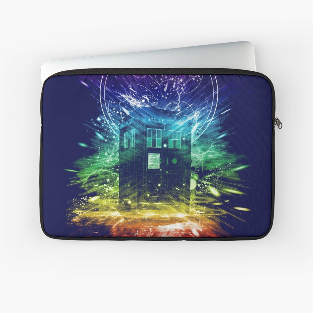 time storm-rainbow version Laptop Sleeve