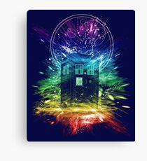 time storm-rainbow version Canvas Print