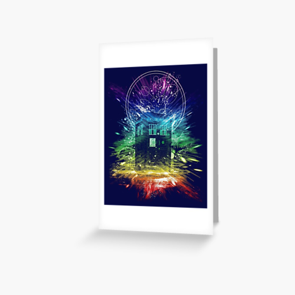 time storm-rainbow version Greeting Card