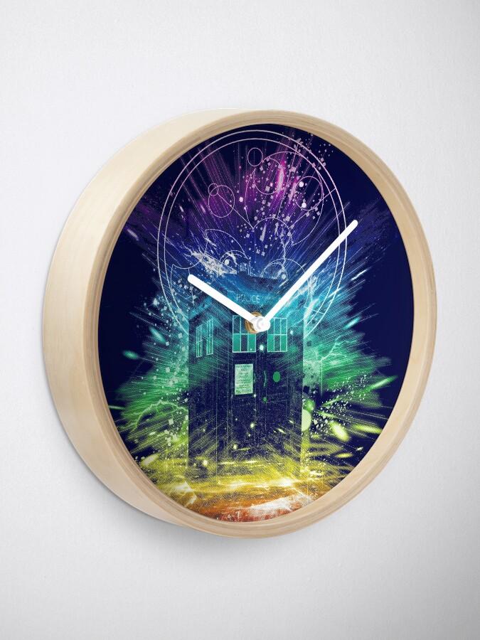 Alternate view of time storm-rainbow version Clock