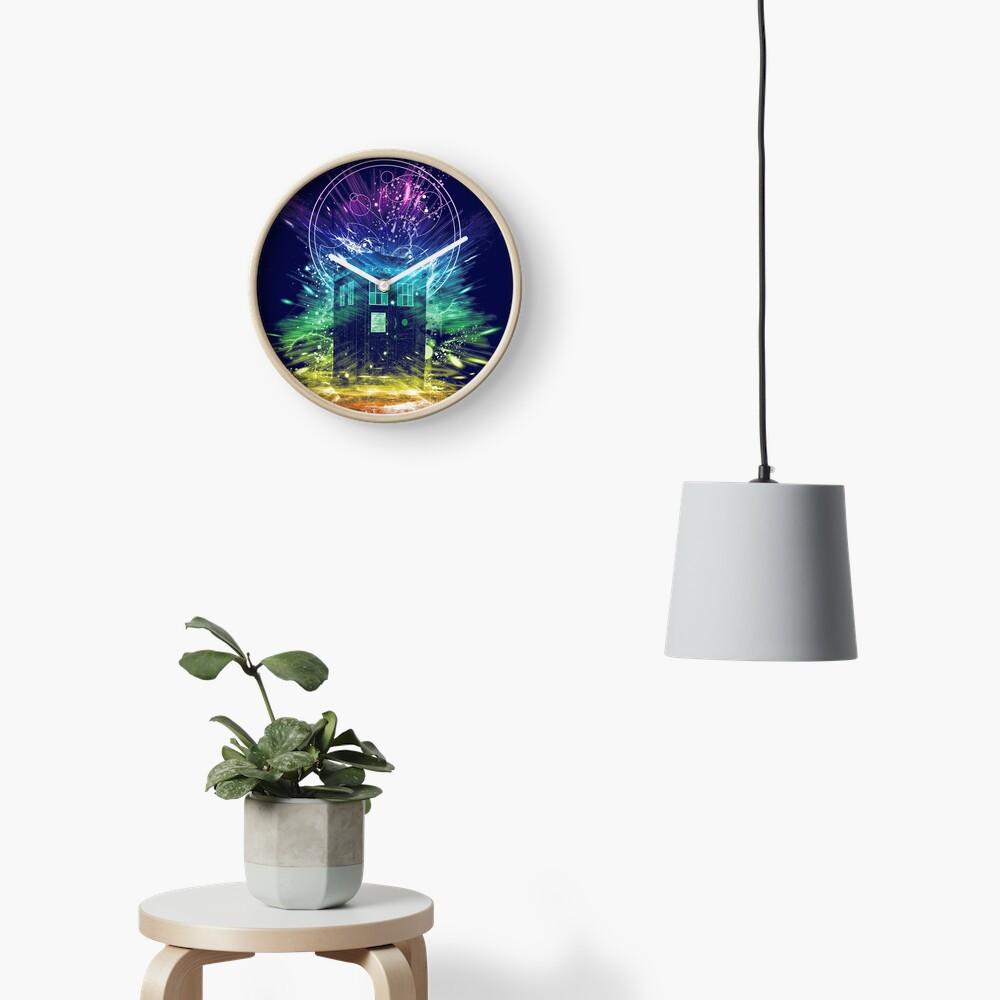 time storm-rainbow version Clock