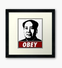 Mao Zedong Obey Framed Print