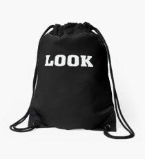 LOOK Funny Humor  Drawstring Bag