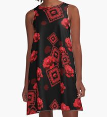 Red Rose  A-Line Dress