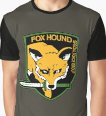 Metal Gear Solid - Fox Hound Emblem Graphic T-Shirt