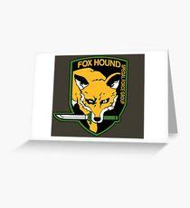 Metal Gear Solid - Fox Hound Emblem Greeting Card