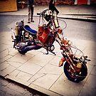 Steampunk motorcycle by Robert Steadman