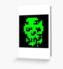 Zombie Face Greeting Card