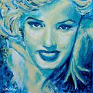 Marilyn in Blue by Kathie Nichols