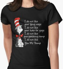 Cat in the hat hate Trump T-Shirt