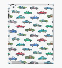Little Toy Cars in Watercolor on White iPad Case/Skin