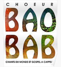 Baobab logo - pour gens de choeur Poster