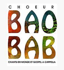 Baobab logo - pour gens de choeur Photographic Print