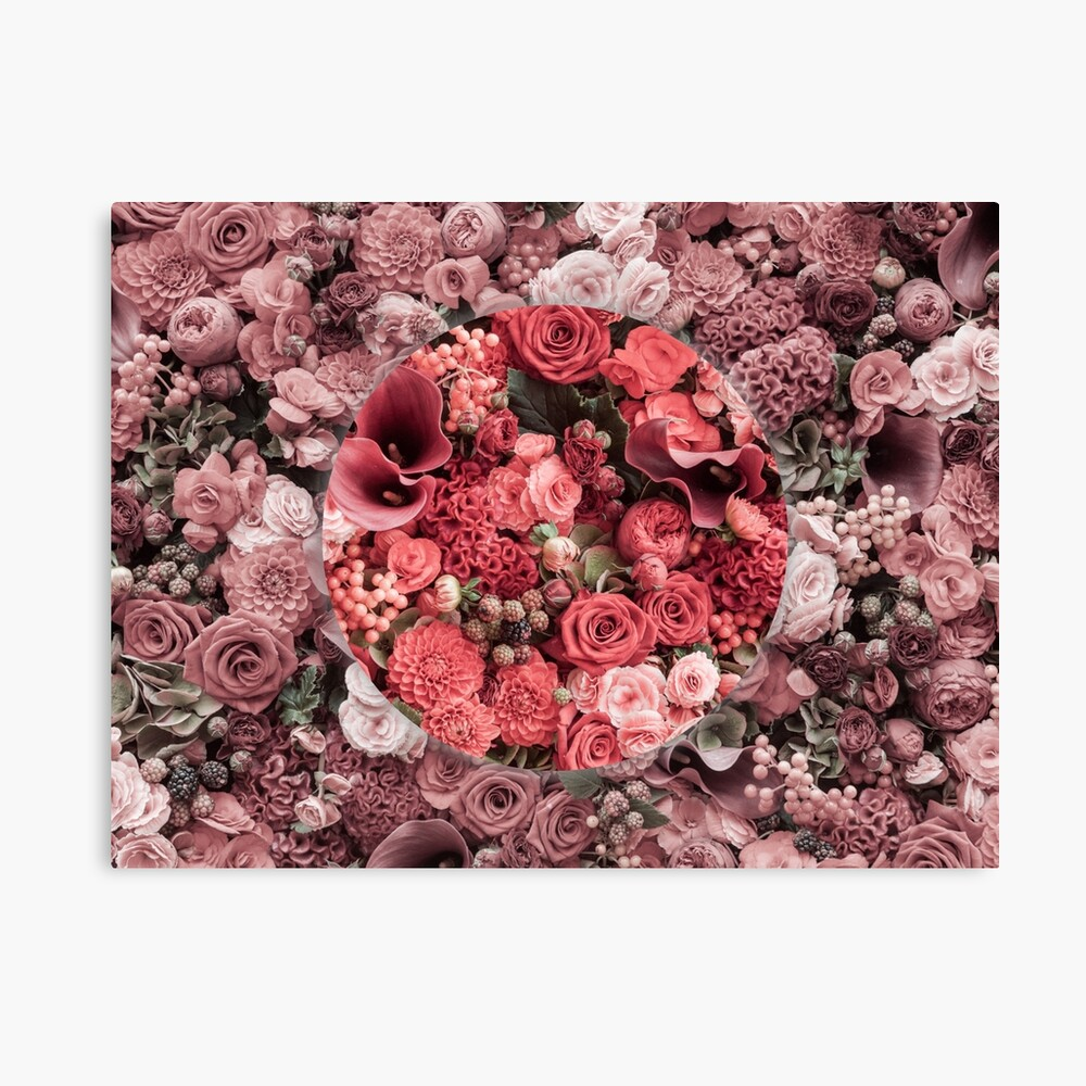 Tumblr Flower Design Canvas Print By Goodvibedesigns Redbubble