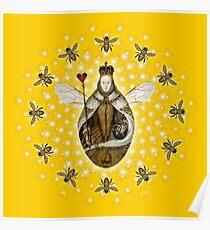 Mandala Queen Bee Poster