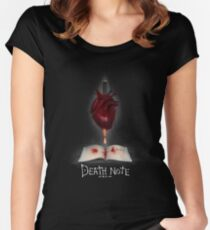 Death Note Art Women's Fitted Scoop T-Shirt