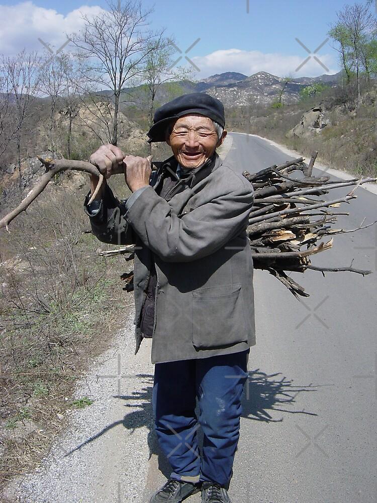 Old Man with Firewood by KLiu