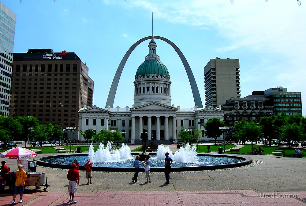 St. Louis Arch-Gateway to the West by Brad Sumner