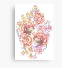 Birds'n'roses Canvas Print