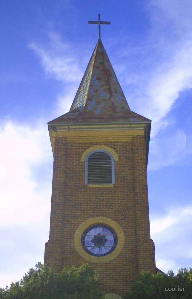 St. John's steeple by courier