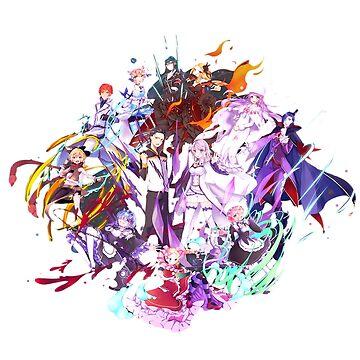 Re:Zero kara Hajimeru Isekai Seikatsu Characters by TebaSheikah