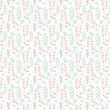 Coloured Leaves Pattern by martinaceravolo