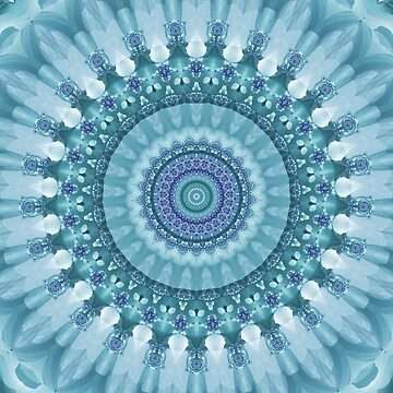 Turquoise and Navy Mandala by kellydietrich