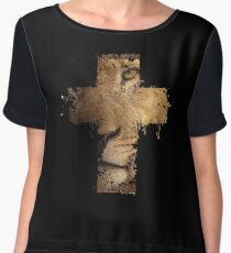 Lion Cross Christian  Women's Chiffon Top