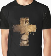 Lion Cross Christian  Graphic T-Shirt