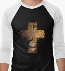 Lion Cross Christian  Men's Baseball ¾ T-Shirt