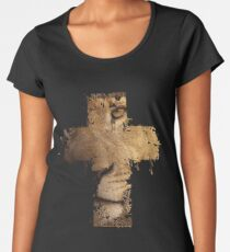 Lion Cross Christian  Women's Premium T-Shirt