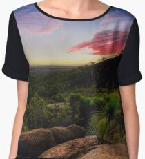 Sunset in the Perth hills Chiffon Top