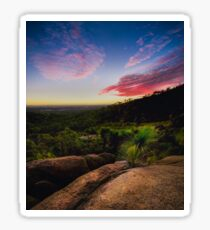 Sunset in the Perth hills Sticker