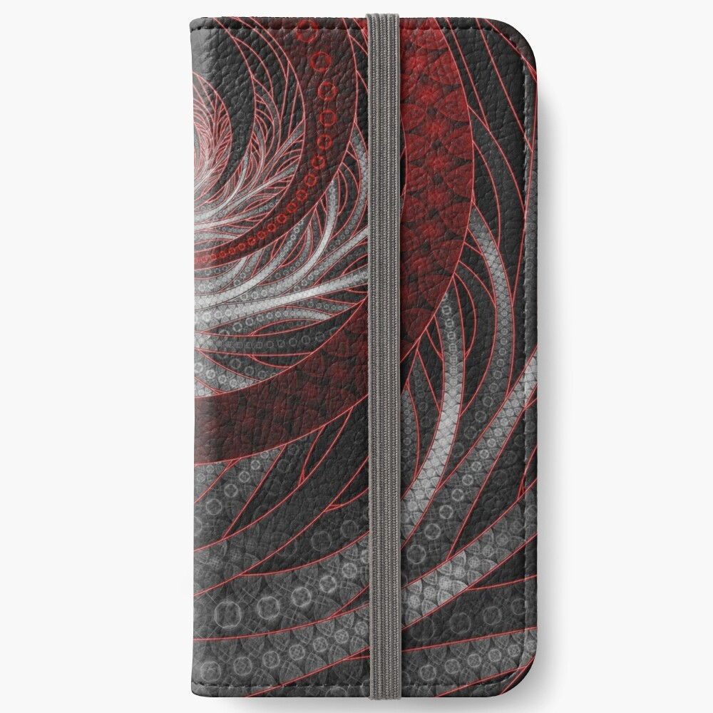 Corded Crimson Scales in the Eye of the Vampire iPhone Wallet