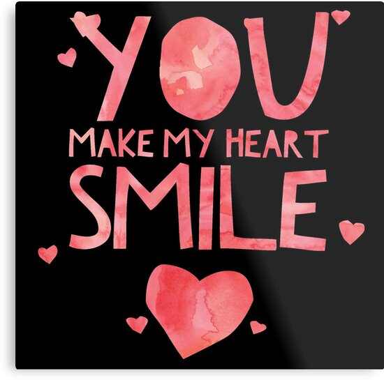 Cute And Cool Love Merchandise You Make My Heart Smile Best Gift Beauteous Heart Cool Love