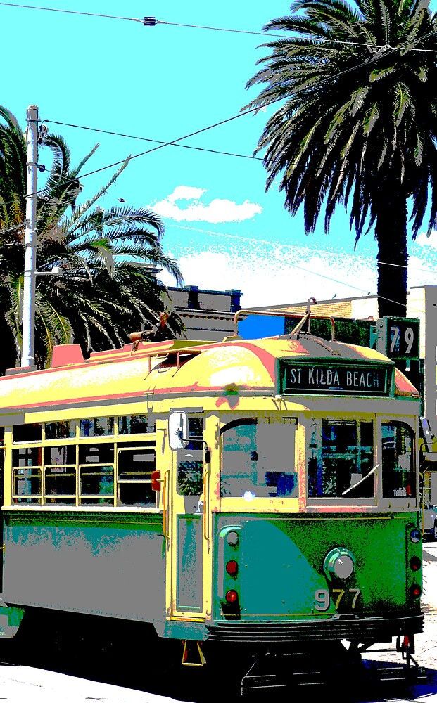 St.Kilda Beach Tram by hadstr
