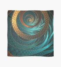 Beautiful Corded Leather Turquoise Fractal Bangles Scarf