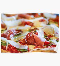 Pancetta Parmesan and Arugula Pizza Poster