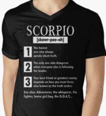 Scorpio Adventurer Whisperer Fighter Tshirt T-Shirt  Mens V-Neck T-Shirt