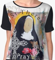 St. Therese of Lisieux Catholic Saint Women's Chiffon Top