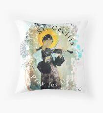 Saint Cecilia Contemporary Art Catholic  Throw Pillow