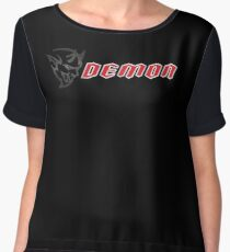 DODGE DEMON BADGE/LOGO Chiffon Top
