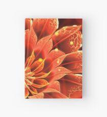 Rote Dahlia Fractal Flower mit schönen Bokeh Notizbuch