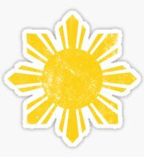 Goldflagge Philippinen Sun Sticker