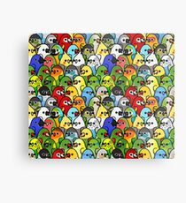 Too Many Birds! Bird Squad 1 Metal Print