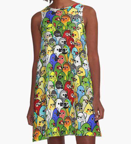 Too Many Birds! Bird Squad 1 A-Line Dress