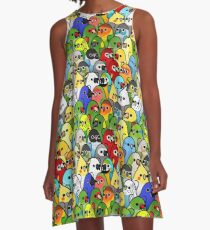 Too Many Birds! Bird Squad 1 A-Line Dress