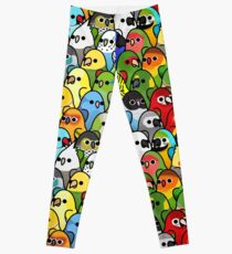 Too Many Birds! Bird Squad 1 Leggings