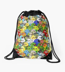 Too Many Birds! Bird Squad 1 Drawstring Bag